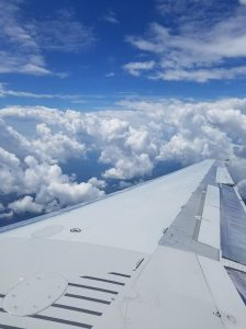 flying, airplane, clouds