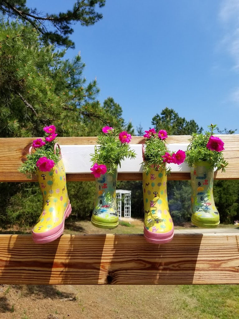 DIY Repurposed Rain Boot Garden Planters