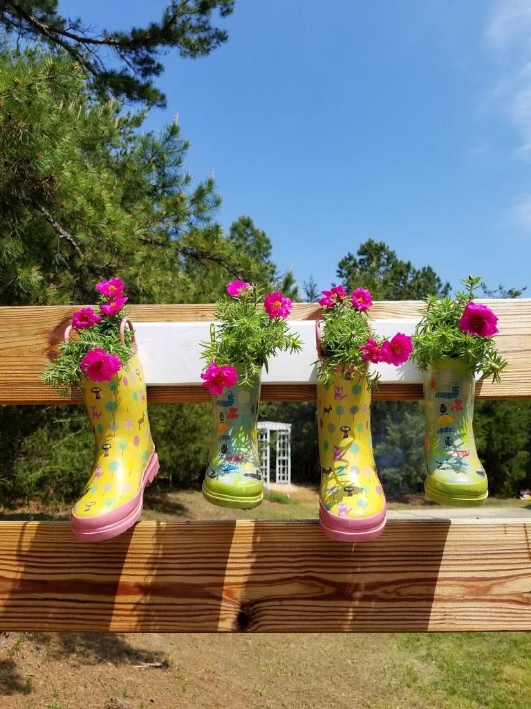 DIY Repurposed Rain Boot Garden Planters