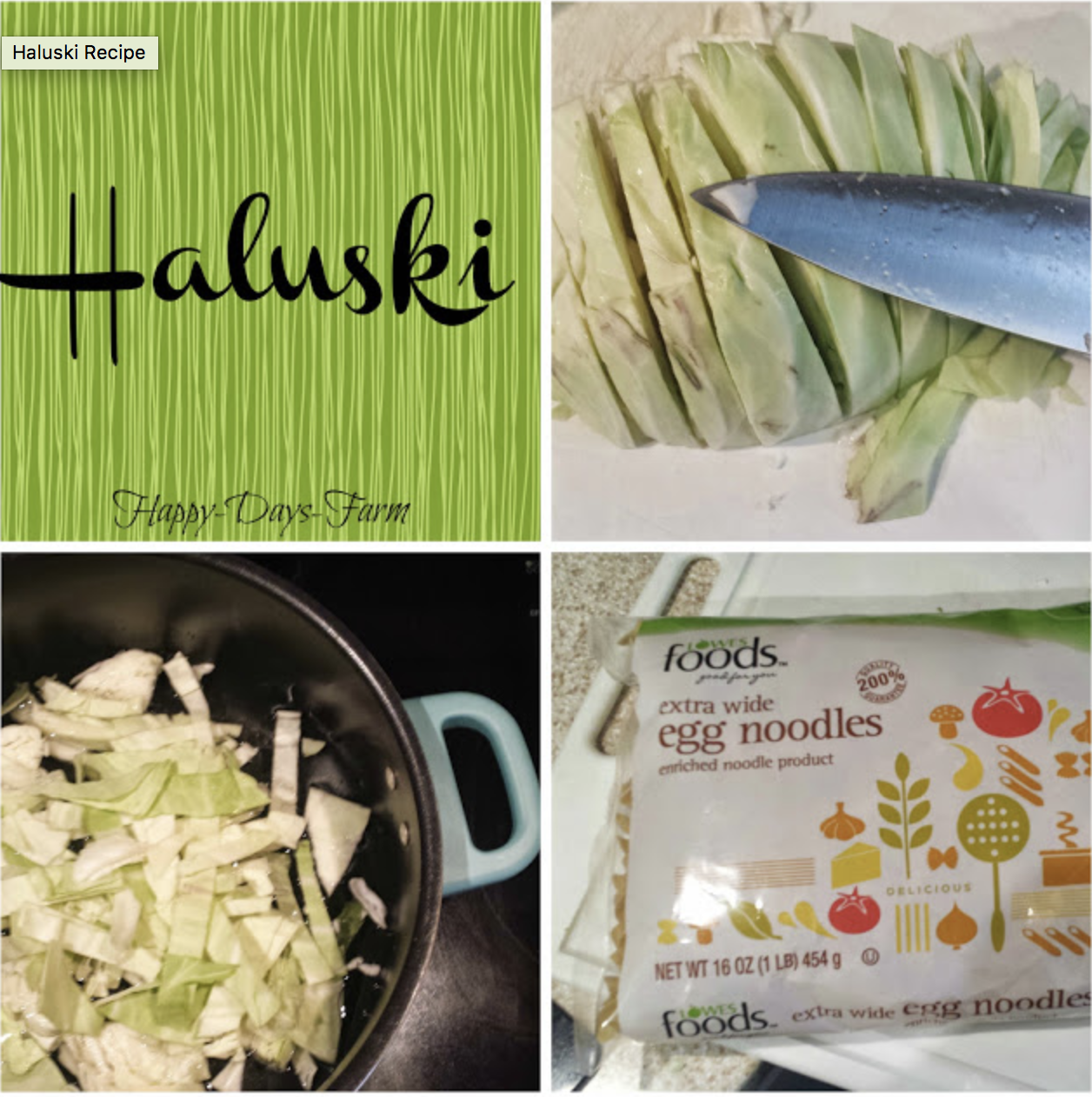 Haluski- An Old European Family Recipe