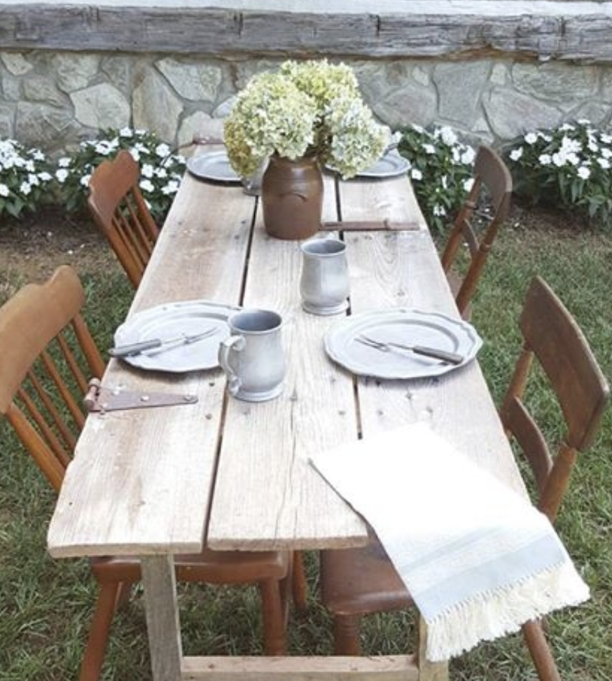 Reclaimed Wood: Farm Door Table DIY Project