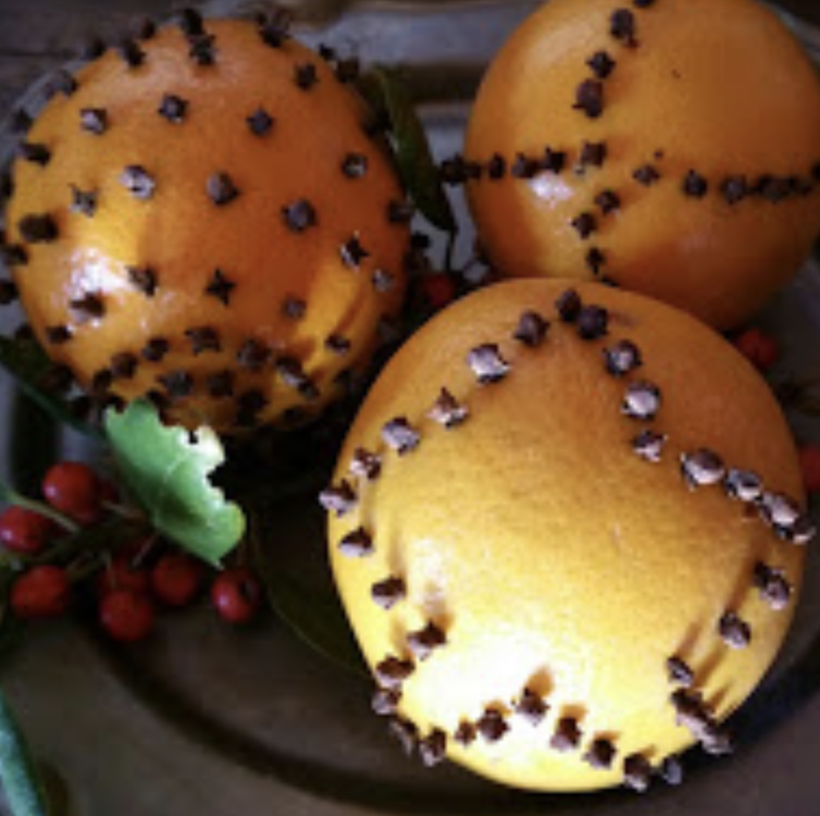Orange Clove Christmas Balls