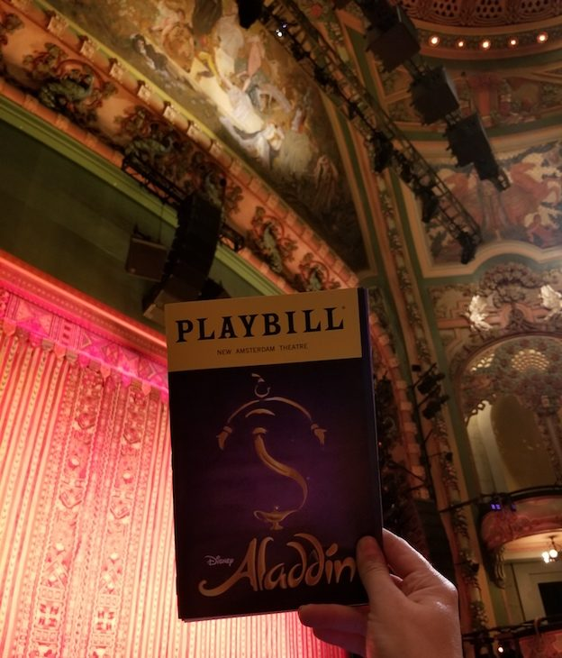Aladdin at the New Amersterdam Theater