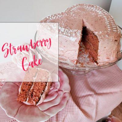 Strawberry Cake for Valentine's Day